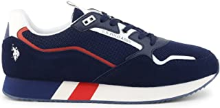 Scarpe U.S. Polo Sneaker Running Lewis 143 Suede/Mesh Dark Blue Uomo US21UP11 46