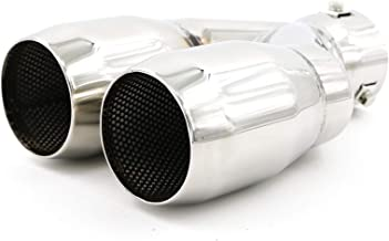 """Pair Stainless Steel 2.5/"""" In-3.5/""""Out-10/"""" Length Dual Exhaust Tips Pipe Weld-on"""