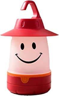HENY Veilleuse pour Enfants,LED Smiley Tente Accessoires Décoratifs Lumières Silicone Doux USB Rechargeable Portable Cheve...
