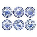 Spode Blue Room Zoological Plates, Set of 6 Assorted Motifs