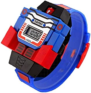 Kids Electronic Toys Digital Watch Creative Transformers for 3-8 Years Old Children Cartoon Watches Boys Birthday Gifts