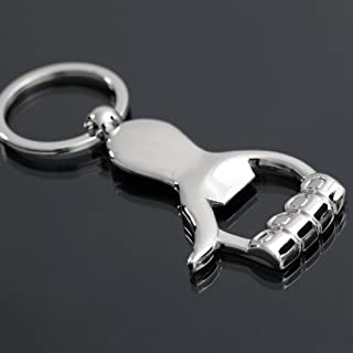 Bottle Opener Keychain Creative Thumbs up Fist Can Opener Beer Key Ring Bar Metal Stainless Steel