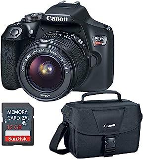 Canon EOS Rebel T6 DSLR Camera w/EF-S 18-55mm, 32GB SD Card & Camera Bag (Renewed)