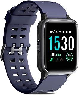 CHEREEKI Reloj Inteligente, Smartwatch Impermeable IP68 Pulsera Actividad 1.3 Pulgada con Monitor de Ritmo cardíaco, Podóm...