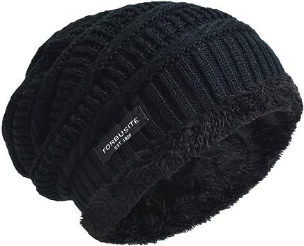 VECRY Trendy Warm Chunky Slouchy Beanie Fleece Lined Knit Skull Cap