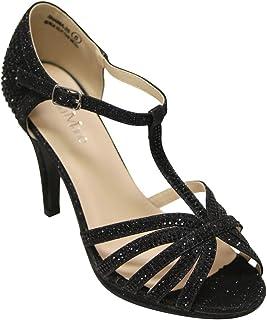 e32a05e0d1e71 Amazon.com: black sandals for women - Bella Marie: Clothing, Shoes ...