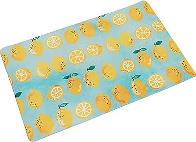 アーリエ(Arie) キッチンマット ブルー 50×80cm 汚れに強い お手入れ簡単 PVC フレッシュレモン