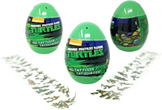 Teenage Mutant Ninja Turtles Eggs with Temporary Tattoos (3 Pack) - 40 Tattoos Each, 4.5 Inches Tall Easter Party Favors
