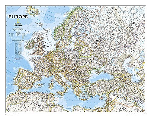 National Geographic: Europe Classic Wall Map - Laminated (30.5 x 23.75 inches) (National Geographic Reference Map)