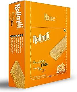 Rollmili Peanut Buter/Mawa Chikki 16 × 40g