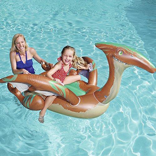 DEBRIS TIME Pterosaurio monta dinosaurios niños círculos de natación niños y niñas inflable cama flotante niños sentado círculos.