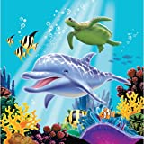 Creative Converting Ocean Party 16 Count 3-Ply Paper Lunch Napkins - 463278