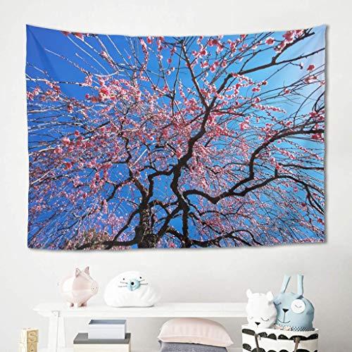 Tapiz para colgar en la pared, diseño de flor de cerezo, para picnic, playa, playa, playa, meditación, yoga, colcha, colcha de tela cómoda, 100 x 150 cm