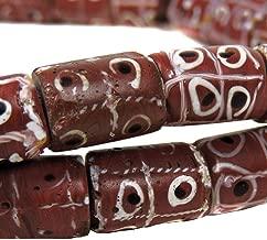 Brick Red Tic Tac Toe Venetian Trade Beads African