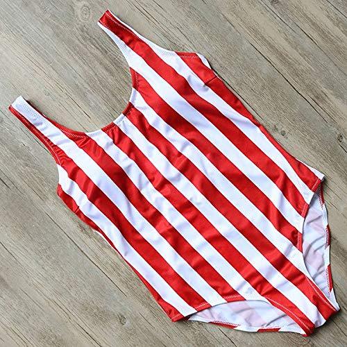 GUOZI Bikini Zwemkleding Dames Zwemkleding Bodysuit Push Up Zwempak Rood & Wit Streep Zwempak Met Pad