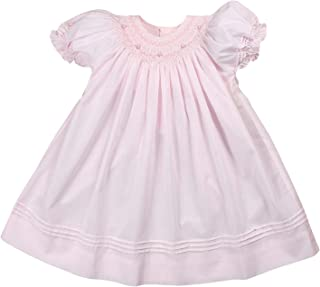 Petit Ami Baby Girls' Daygown with Heart Smocking and Pearls