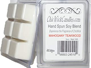 ChicWick Candles 2Pack Mahogany Teakwood Soy Blend Wax Melts 6oz 12 Wax Cubes Wax Tarts Chunks 50 Plus Hours of Quality Fragrance