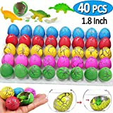 iGeeKid 40PCs Dinosaur Eggs, Dinosaur Hatching Growing in Water Pool Bath Toys for Toddler Kids Boys, Dinosaur Figures Toys Gift Birthday Classroom Party Favor Supplies