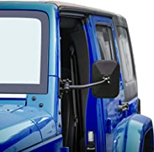 JeCar Door Off Mirrors Rear View Quick Release Mirrors for 1997-2018 Jeep Wrangler TJ JK JKU