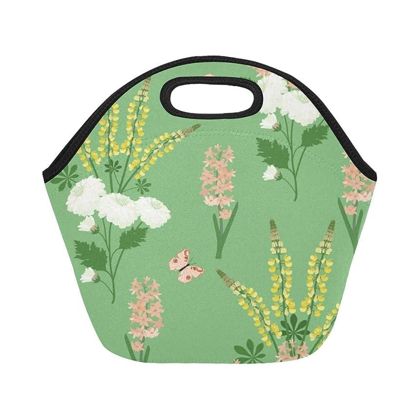 強度弁護士目を覚ますDMHYJ ランチバッグ 美しい蝶や花 弁当袋 お弁当入れ 保温保冷 トート 弁当バッグ 大容量 トートバッグ