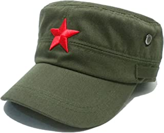 Vintage Fatigue Red Star Mao Army Military Hat