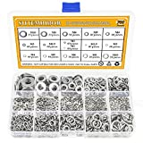 Sutemribor 304 Stainless Steel Flat Washer and Lock Washer Assortment Set 700 Pieces, 8 Sizes - M2 M2.5 M3 M4 M5 M6 M8 M10