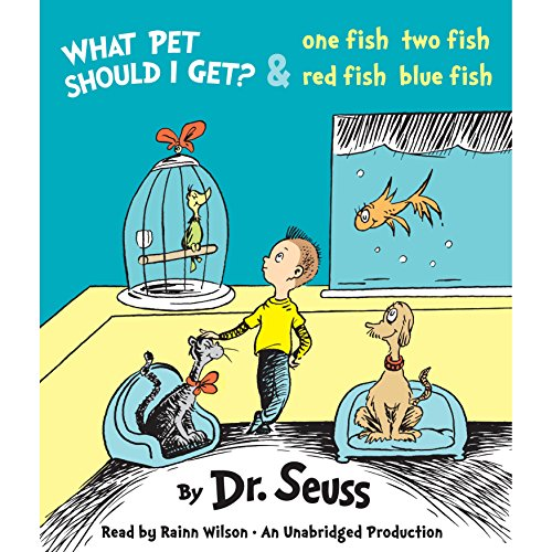 What Pet Should I Get? and One Fish Two Fish Red Fish Blue Fish audiobook cover art