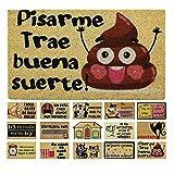 LucaHome - Felpudo de Coco Natural 70x40 con Base Antideslizante,...