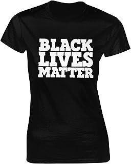 Black Lives Matter レディースTシャツファッションプリントトップtシャツギフトblack