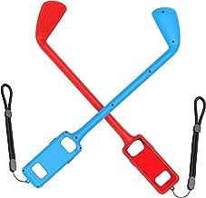 Homyl Jogo de golfe esquerdo e direito 2 peças de aderência somatossensorial para tacos de golfe premium – vermelho e azul