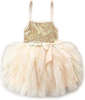 SCFEL Ragazze Bambini Paillettes Tutu Vestito compleanno Considerando Lace spalline principessa Skirt