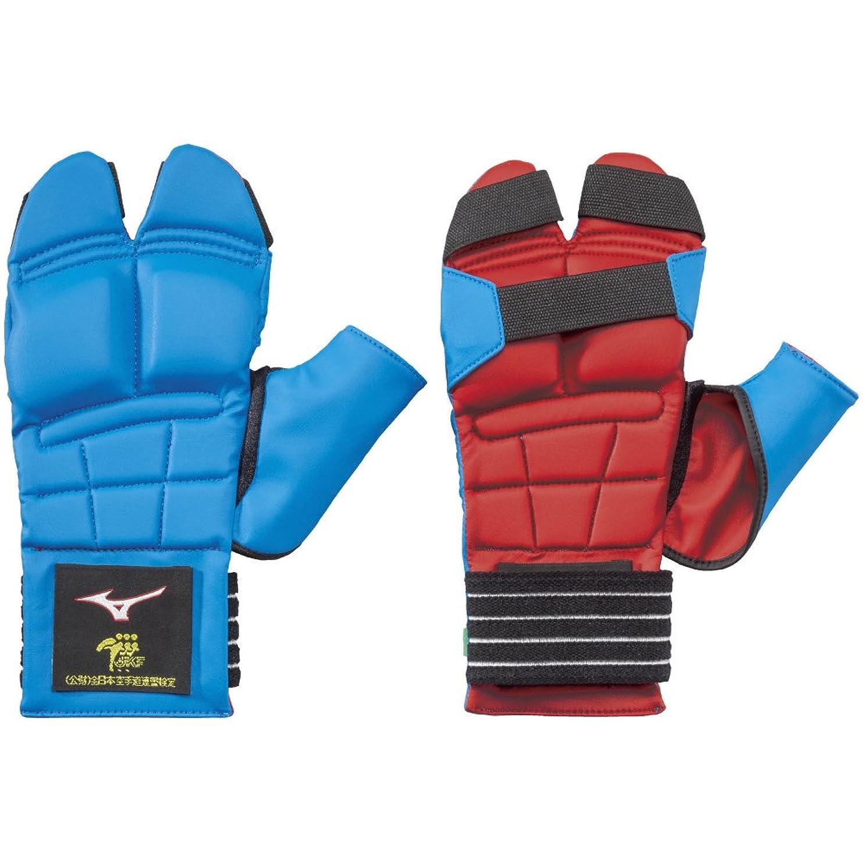 アナウンサーアーク匹敵しますMIZUNO(ミズノ) 空手 サポーター リバーシブル拳サポーター(両手1組) 少年用 全日本空手道連盟検定品