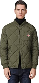 Men's Quilted Diamond Bomber Jacket Warm Padded Puffer Outdoor Coat