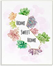 Stupell Industries California State Home Sweet Home Succulent Watercolor Vignette Wall Plaque Art by Ziwei Li, 10 x 0.5 x ...
