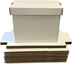 (5) SHORT White Comic Storage Boxes - Holds 150 - 175 Comic Books