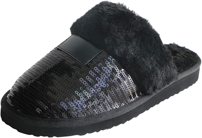 New Winter Women Slippers Fur Warm Plush Female Slides Indoor EVA Flat Home Flip Winter shoes