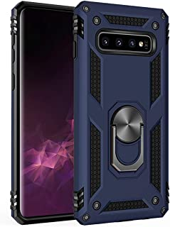 Samsung Galaxy S10 Case,Amuoc [ Military Grade ] 15ft. Drop Tested Protective Case | Kickstand | Compatible with Galaxy S10 (2019)-Royal Blue (Renewed)