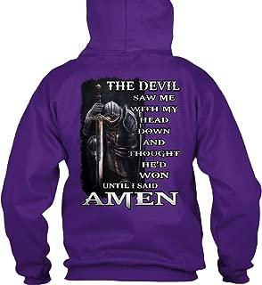 teespring Men's The Devil Saw Me. - Sweatshirt - Gildan 8Oz Heavy Blend Hoodie