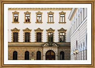 Facade of a Palace, Schloss Thurn and Taxis, Regensburg, Bavaria, Germany by Panoramic Images Framed Art Print Wall Picture, Wide Gold Frame, 50 x 36 inches