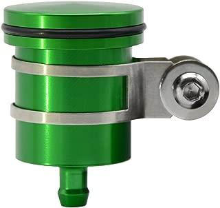 LQMY CNC Aluminum Oil Cup Front or Rear Brake Fluid Reservoir for Kawasaki Z250 Z650 Z750/R/RR Z800 Z900 Z1000/sx Ninja 250R 300R 400R 500R 650R 1000R ZX-10R ZX-6R ZX-12R ER6N ER6F (Green)