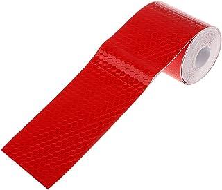 comprar comparacion 3m Etiqueta Adhesiva Cinta Reflectante Seguridad Advertencia para Coche Camión - Rojo