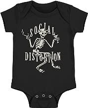 Social Distortion Boys' Skeli Rag Bodysuit Black