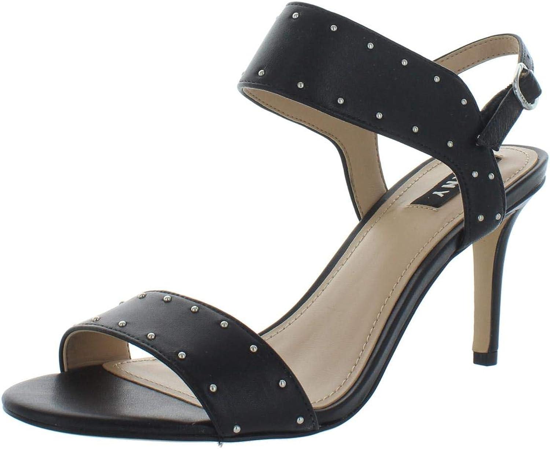 DKny kvinnor Seana läder Studded Dress Sandals Sandals Sandals svart 6 Medium (B,M)  nyhetsartiklar