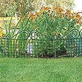 bellissa Rabattenzaun Ambiente Verzierung - 92860 - Dekorativer Zierzaun für Abgrenzungen im Garten - 76 x 44 cm - grün