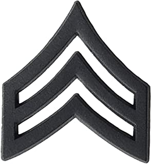 US Army Black Metal Subdued Pin-On Rank