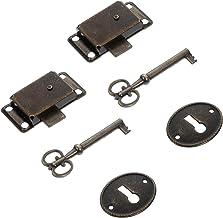 Angoily 2 Stuks Antieke Doos Sloten Decoratieve Case Lock Voor Sieraden Doos Kabinet Kast Koffer Retro Lock