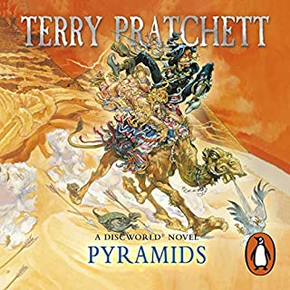Pyramids     Discworld, Book 7              By:                                                                                                                                 Terry Pratchett                               Narrated by:                                                                                                                                 Nigel Planer                      Length: 9 hrs and 15 mins     1,180 ratings     Overall 4.6