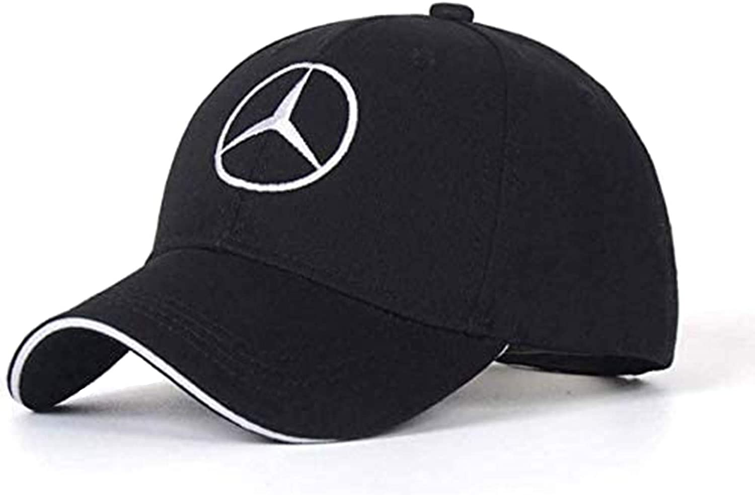 BreezeSharely Compatible with Benz car Hats,Car Logo Embroidered Adjustable Baseball Caps for Men or Women and Hat Travel Cap Racing Motor Hat.