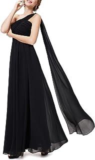 Ever-Pretty Vestidos de Fiesta Gasa Un Hombro Corte Imperio Plisado sin Mangas para Mujer 09816-ES