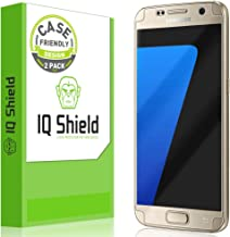 IQShield Screen Protector Compatible with Galaxy S7 (2-Pack)(Case Friendly) Anti-Bubble Clear Film